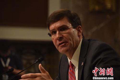 """美国防部长:会配合众议院""""电话门""""弹劾调查"""