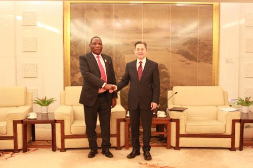 外交部副部长郑泽光会见马拉维总统特使姆瓦纳姆韦卡