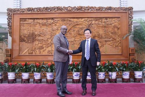 外交部非洲司司长戴兵会见国际货币基金组织非洲部主任塞拉西