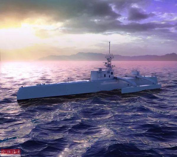"""▲美國研製的""""海上獵手""""號無人反潛艦。"""