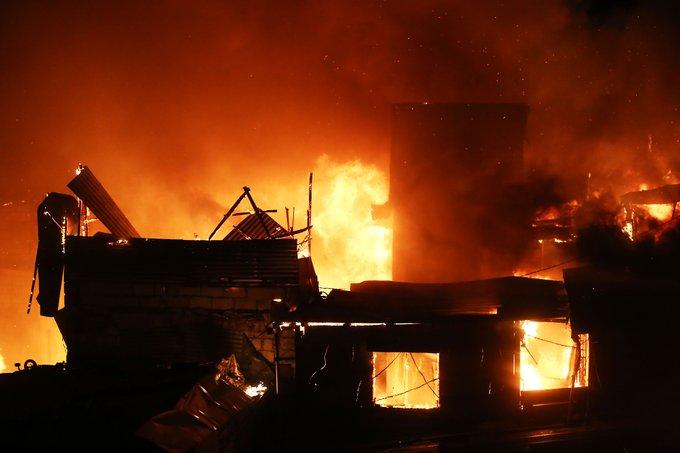 △火灾现场(图片来源:《菲律宾星报》)