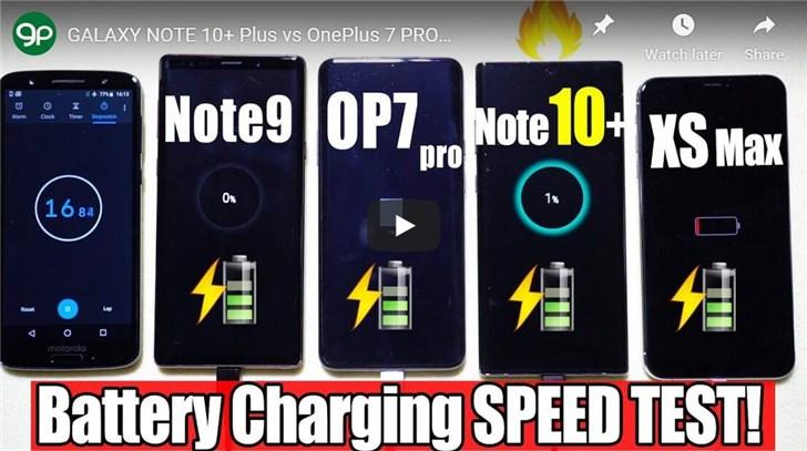 <b>三星Note10+充电速度测试:充满仅需1小时</b>