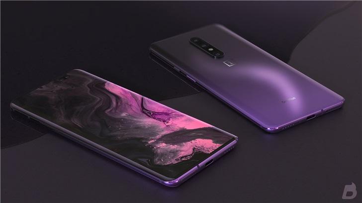 一加8 Pro手机最新渲染图晒出,前置双摄左右两侧为曲面设计