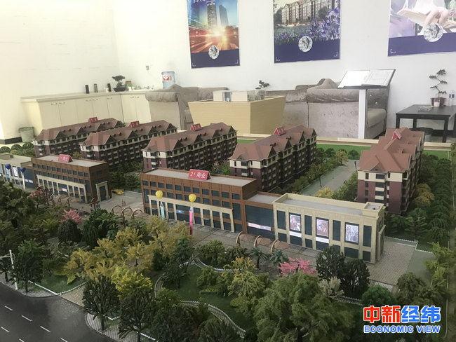 天津武清区一处售楼部沙盘。中新经纬 薛宇飞 摄