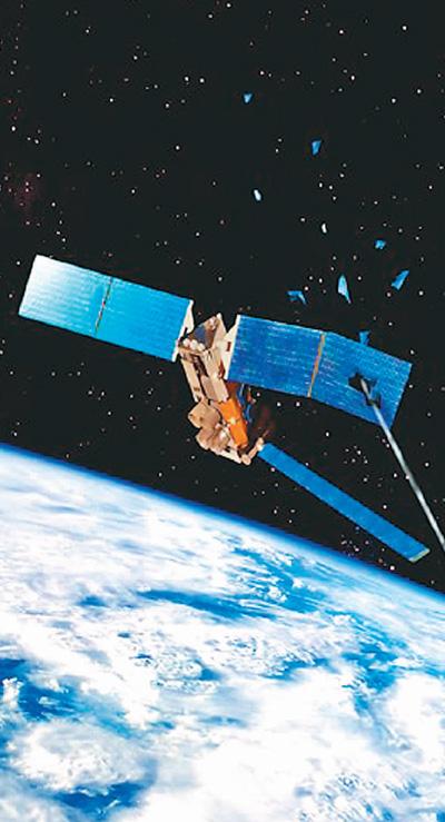 卫星太阳能板被太空碎片击中示意图 图来自百度网