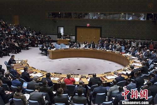 资料图:联合国安理会在纽约联合国总部举行朝鲜半岛核问题部长级公开会。 中新社记者 廖攀 摄