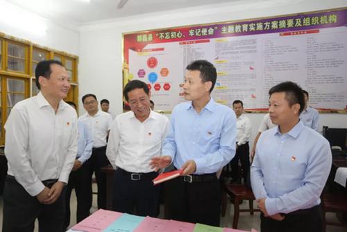 孙新阳来九江市调研指导主题教育,到这两个县实地察看后,提出了这些要求……
