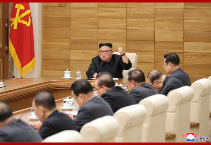 【蜗牛棋牌】金正恩主持朝政治局扩大会议 强调落实新战略路线