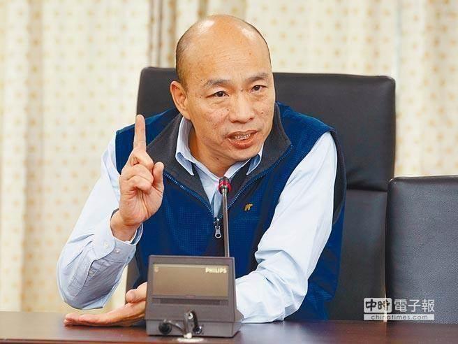 """韩国瑜会成为绿营的终极目标?(图片来源:""""中时电子报"""")"""