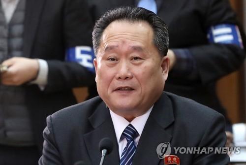 资料图片:朝鲜祖国和平统一委员会委员长李善权(图片来源:韩联社)