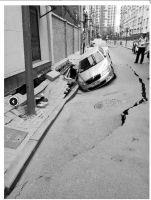 管博士汽车美容 培训班太原一处路江淮汽车瑞风s3销量面塌陷 一辆轿车掉坑里