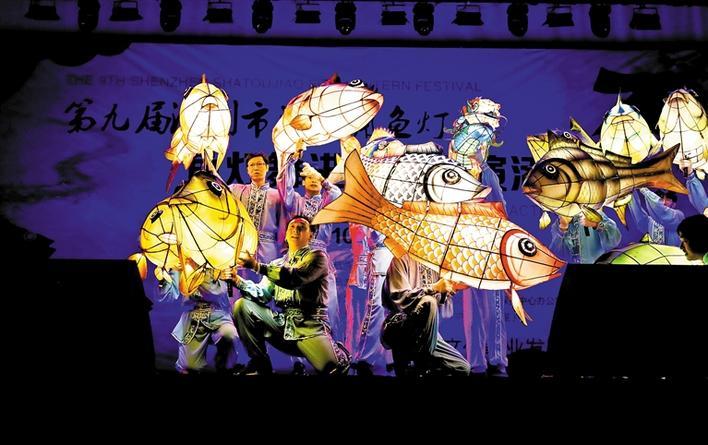 沙头角鱼灯节鱼灯舞进光明展演
