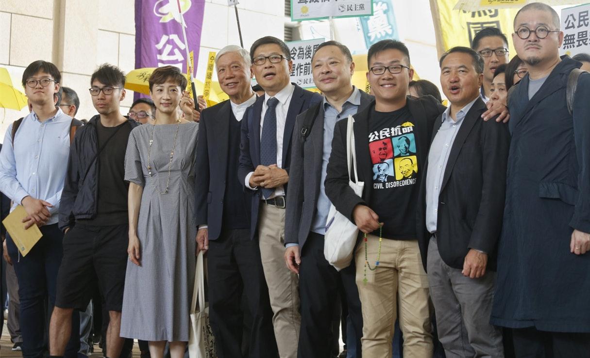 """香港非法""""占中""""案今判刑 戴耀廷、陈健民均获刑24个月"""