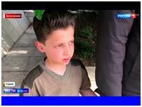 俄电视台播出的采访片段截图