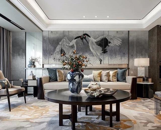 【领绣】那鹤的逼真 那印花的美 新中式装修你无法抗拒