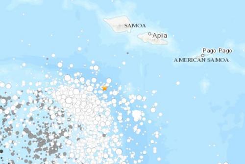 南太平洋岛国萨摩亚附近海域发生6.0级地震