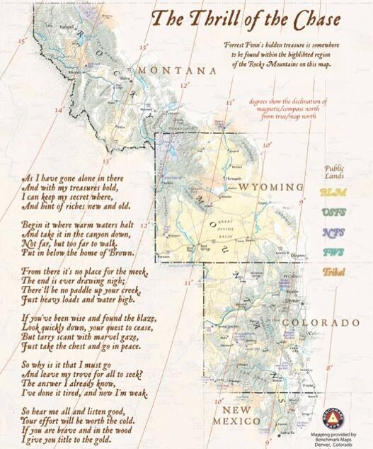 芬恩给出的地图和谜语诗