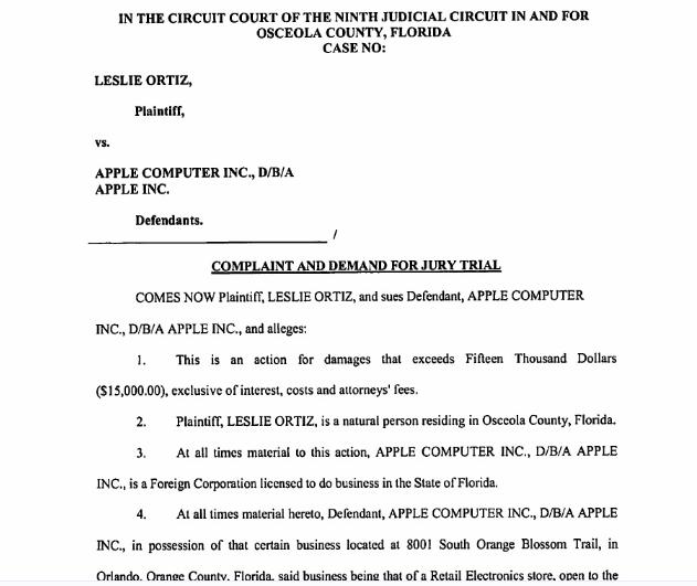 苹果商店因在疏散演习中导致顾客受伤被起诉 被索赔1.5万美元