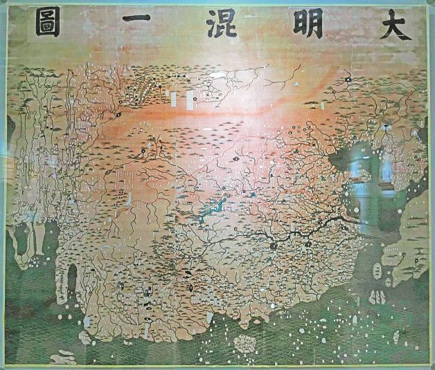 中国最早的世界地图《大明混一图》