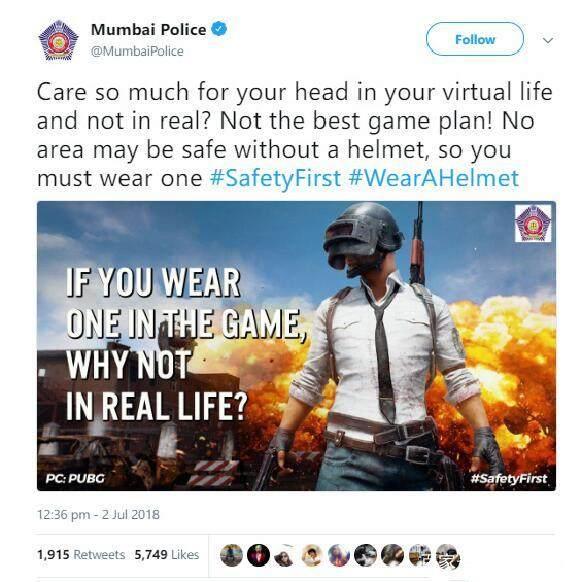 【111卡盟】骑摩托戴好头盔 印度用《绝地求生》宣传安全知识