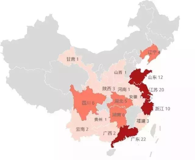 百强区地域分布图