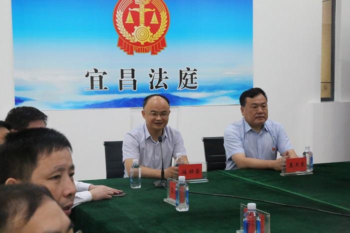 游劝荣院长到武汉海事法院宜昌法庭调研