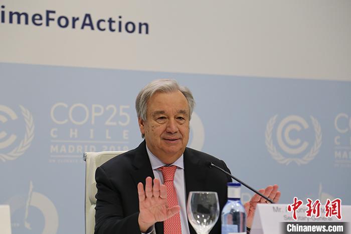 资料图:联合国秘书长古特雷斯。 中新社记者 夏宾 摄