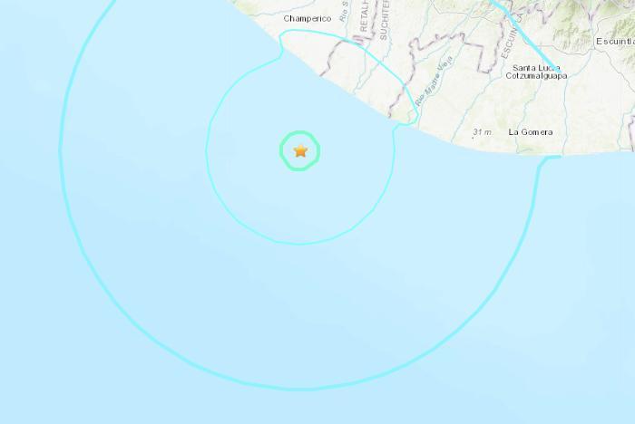 危地马拉西南海域发生5.6级地震 震源深47.6公里