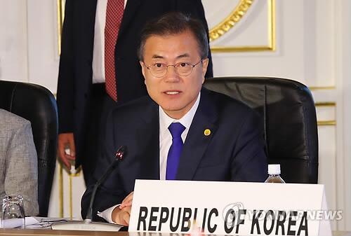 韩国总统文在寅(来源:韩联社)