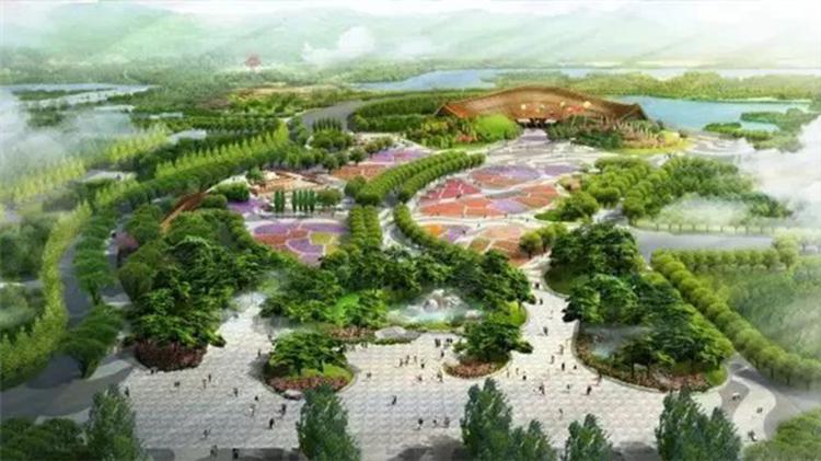 北京世园会即将开幕 《盛世圆满赏盘》完美再现中国馆锦绣如意