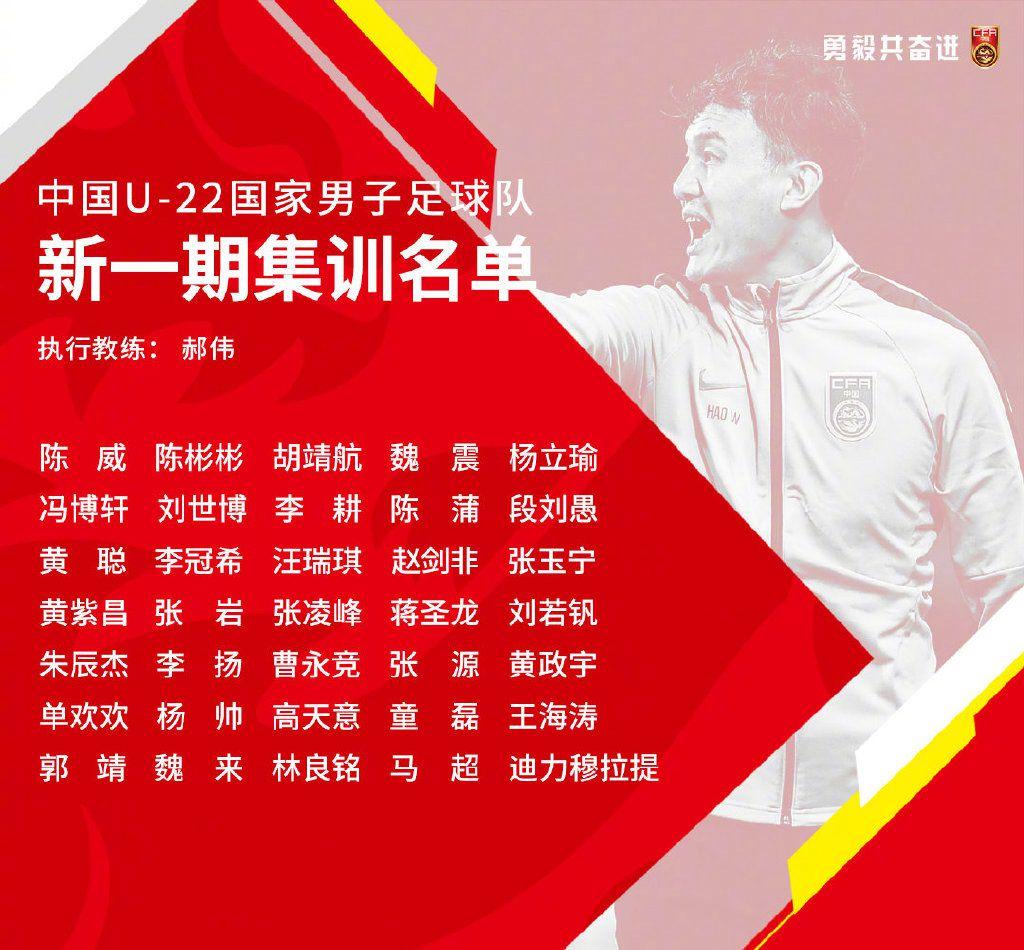 国奥新一期散训名单。图/中国足球队