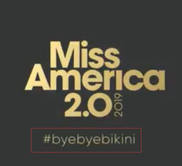 """▲美国小姐赛事在其官方推特账号上发布的告别""""比基尼""""视频"""
