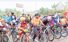 追风沂河畔 自在张家坡 第二届沂源山地自行车大奖赛开赛
