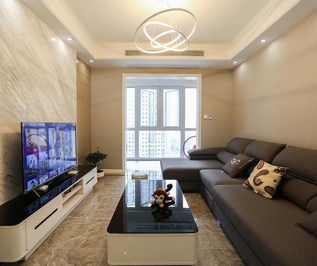 91平米的现代风装修,这套二居室简直就是让人宁静的心灵港湾-金地天悦装修
