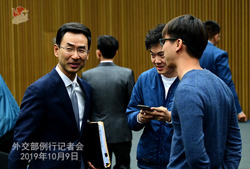 10月9日外交部例行记者会(全文)