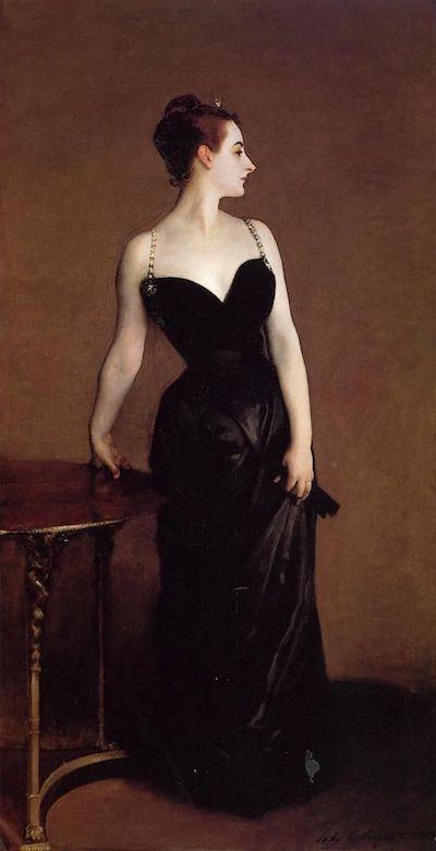 萨金特《高特鲁夫人》1884年美国纽约大都会艺术博物馆藏图片来自网络