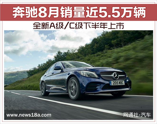 奔驰8月销量近5.5万辆 全新A级/C级下半年上市