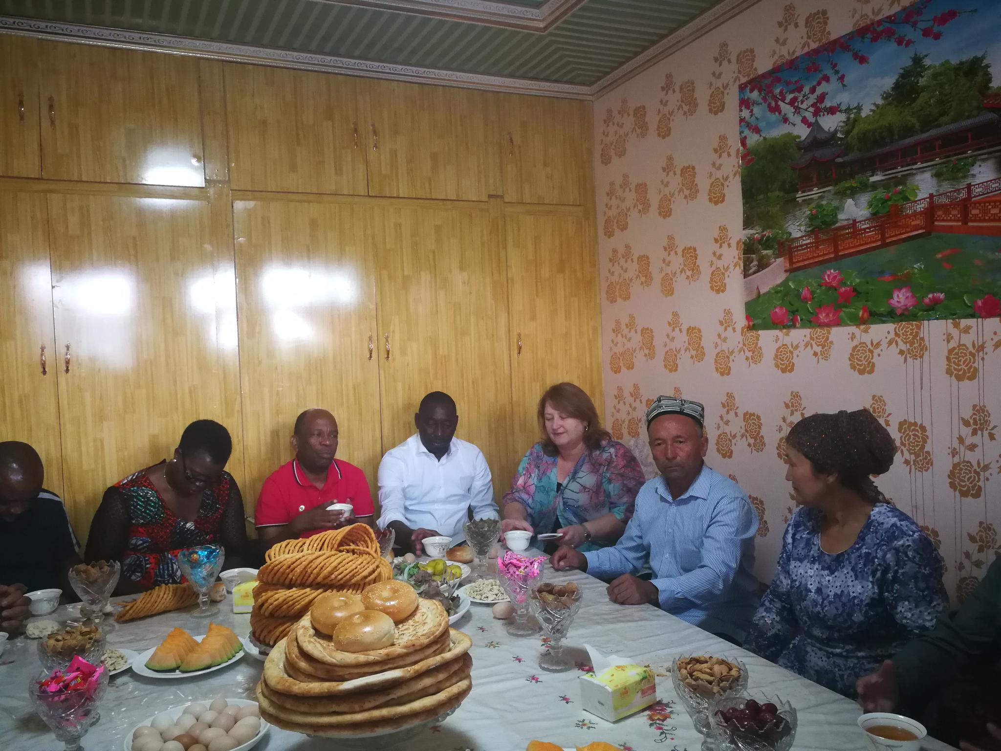 8国常驻日内瓦代表战次要交际民拜候喀什疏附县一家农户