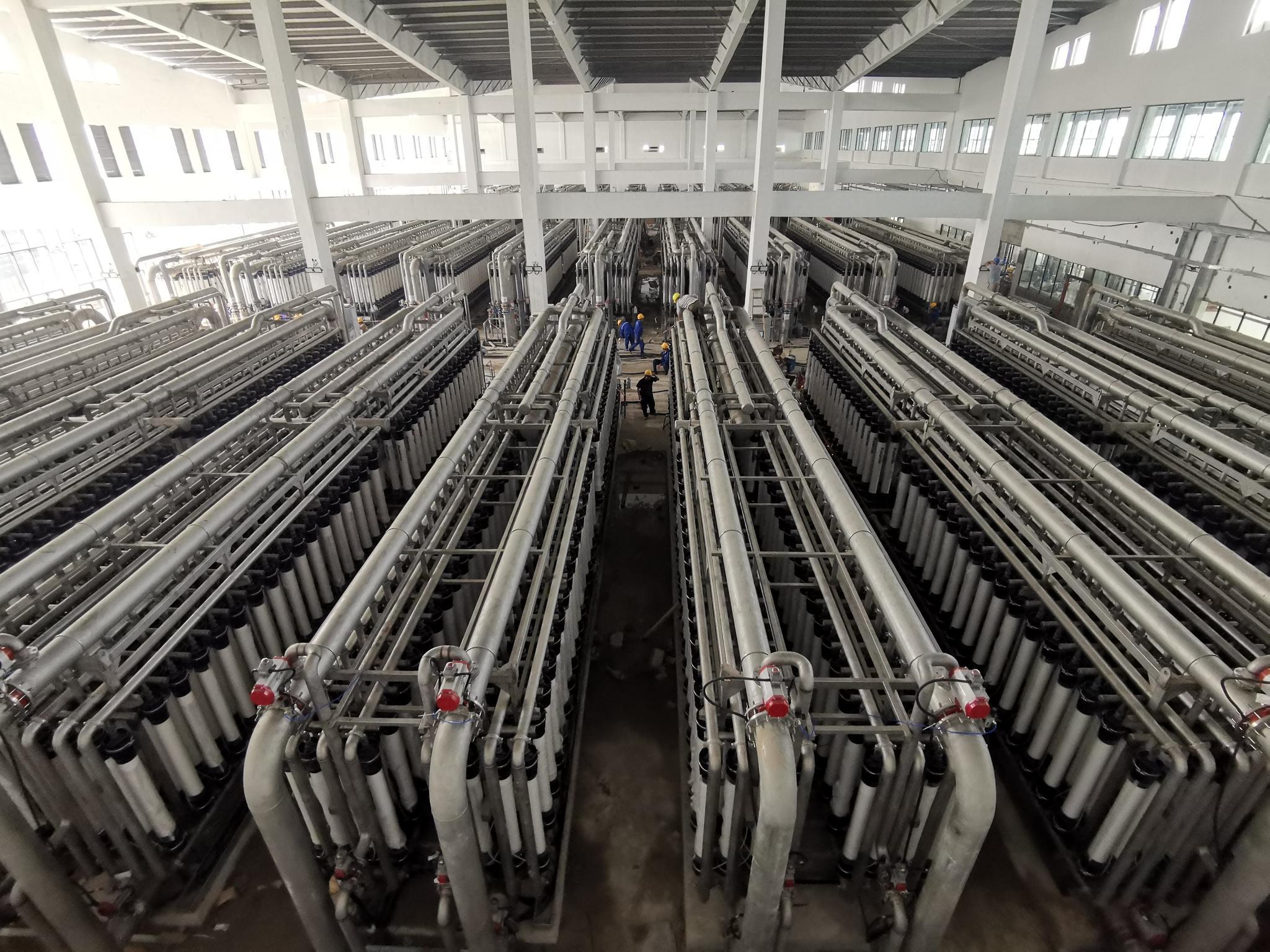 中国化学工程承建的国内最大规模超滤水厂通水试运行