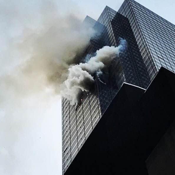 特朗普大厦发生火灾 已导致1人死亡4人受伤(图)东芝m853