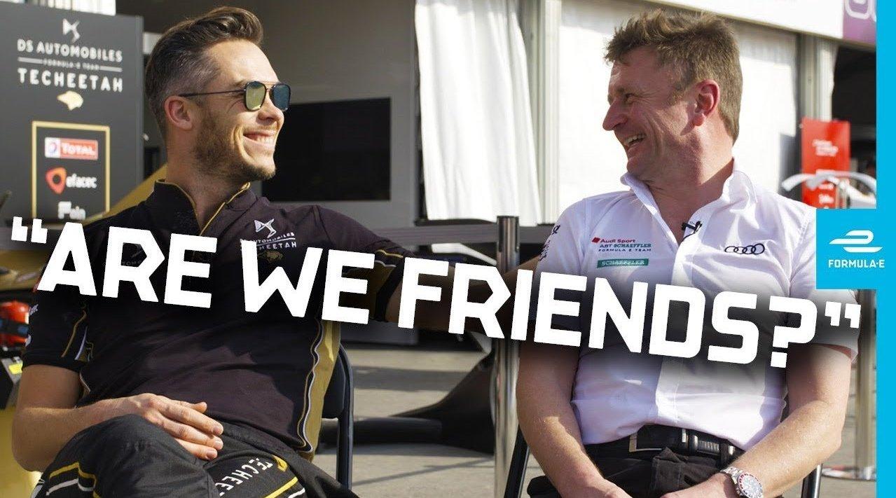刚刚离开DS钛麒车队的安德烈·洛特勒和奥迪车队经理阿兰·麦克尼什