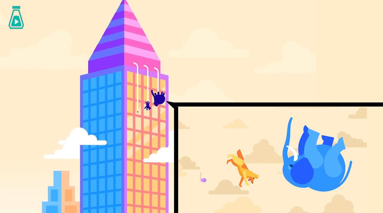 老鼠、汪和大象从大楼楼顶掉下来,哪只能幸存