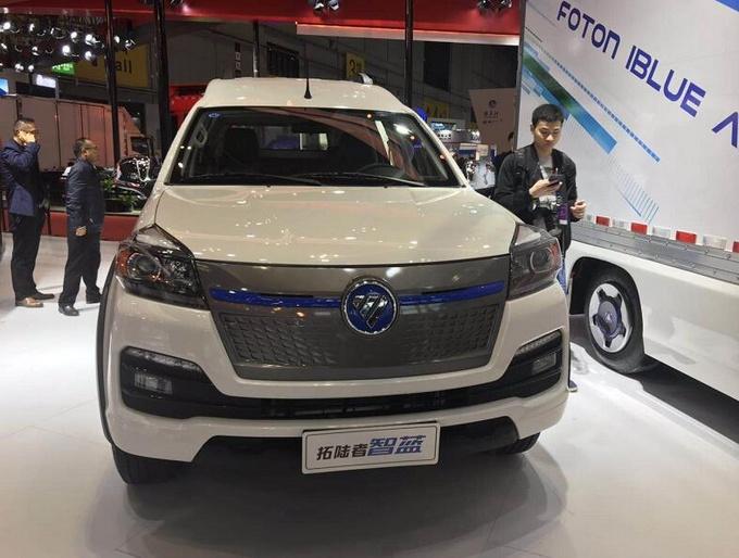 福田新能源皮卡智蓝亮相上海车展 厢式车型更具乘用化