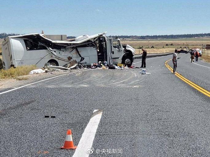 中国旅游大巴在美出车祸4死 多部门启动应急机制