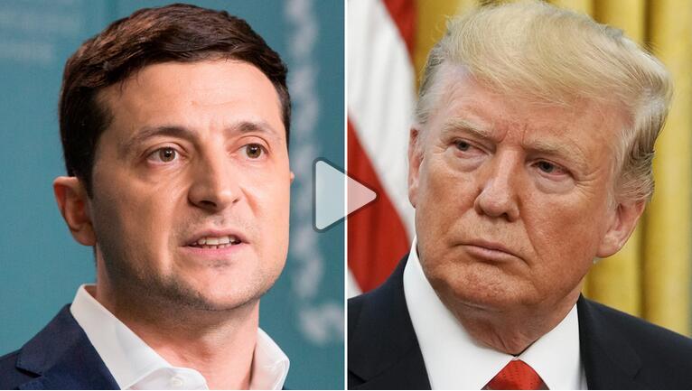 泽连斯基(左)与特朗普 图自CNN
