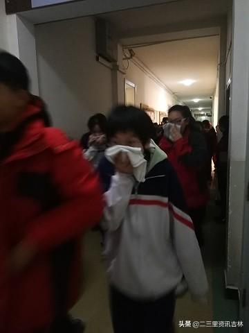 吉林市二十三中举行消防安全疏散演练