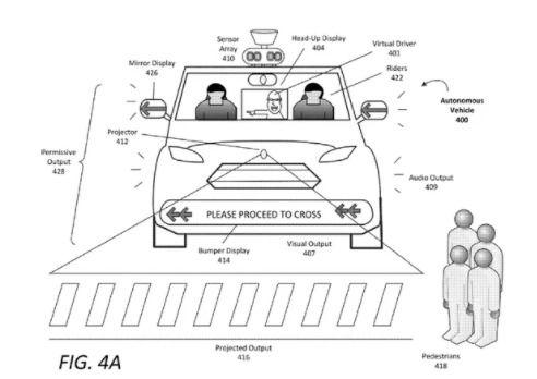"""自动驾驶汽车用闪烁灯光 奇怪噪音与人""""交谈"""""""
