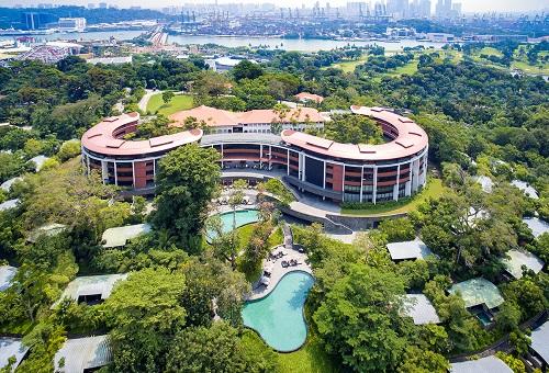 位于新加坡圣淘沙岛上的嘉佩乐酒店(路透社)