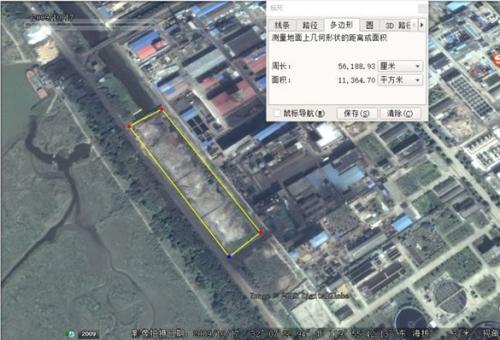 掩埋化工废料区域2009年的卫星影像