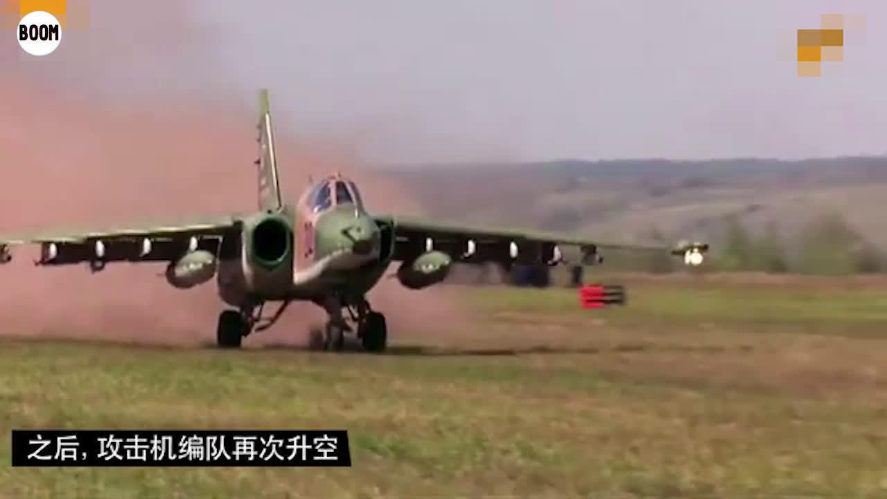 皮糙肉厚生存力极强,苏-25攻击机在草地野战机场着陆